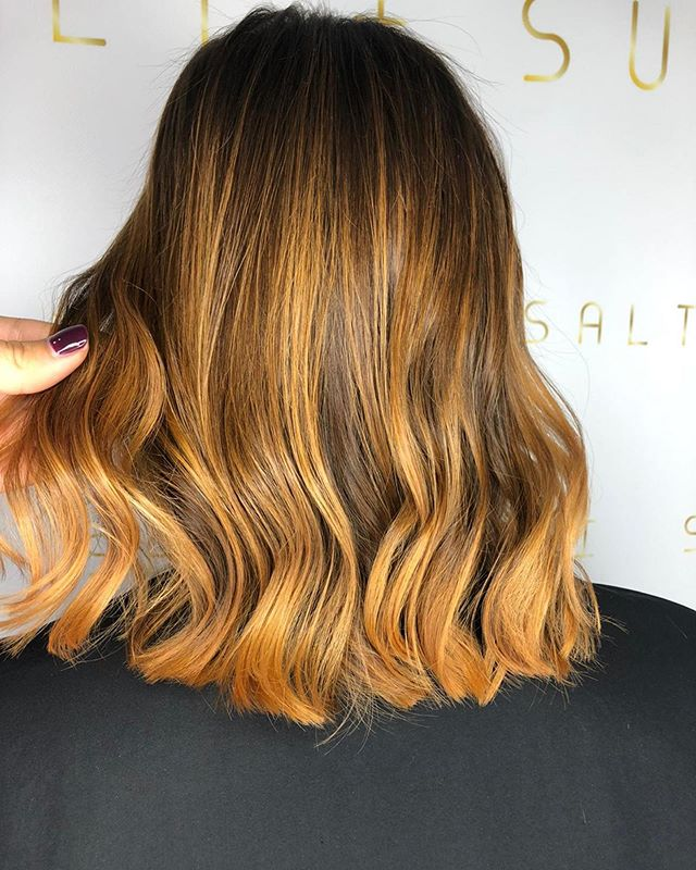 Barely There Waves with Blonde Highlights