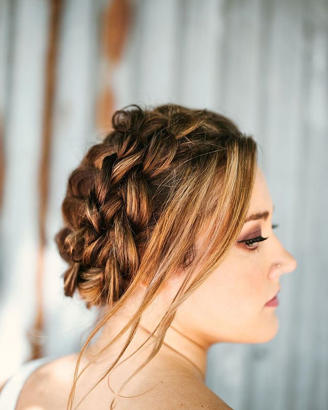 Elegant Updo with Loose Locks in the Front
