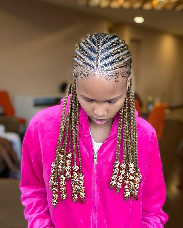 Blonde, Beaded Cornrow Braids