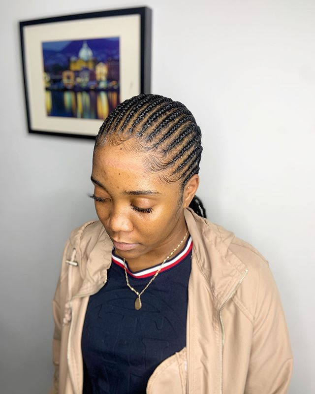 Understated Full Scalp Cornrow Braids