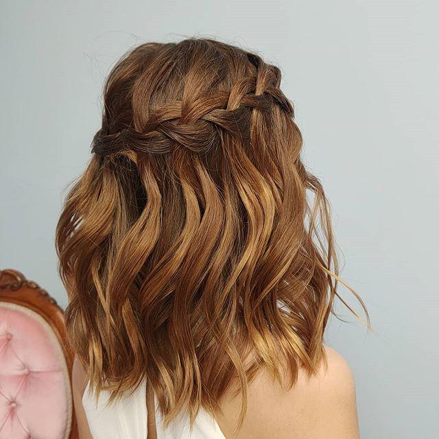 Short Wavy Hair with Braided Tiara