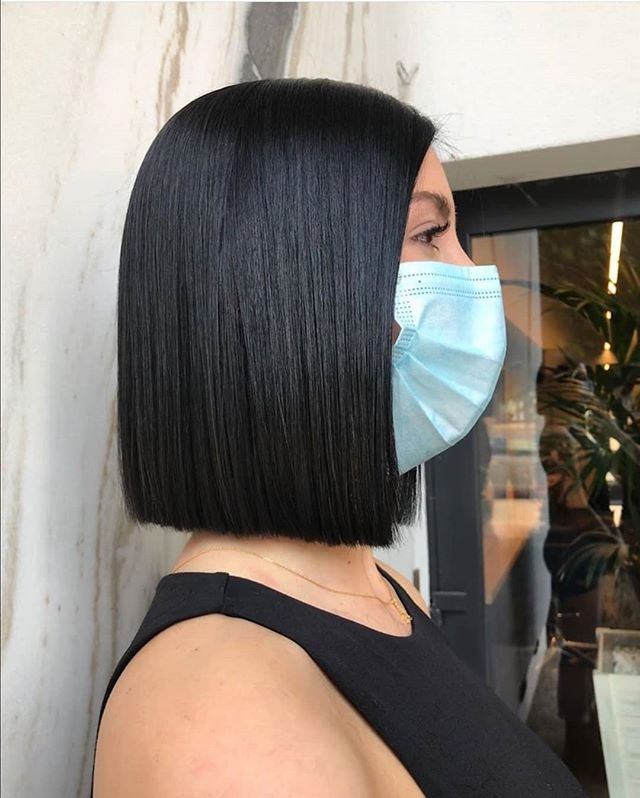 Straight Line Smart Blunt Bob Hairstyle for the Bold Fashion Diva