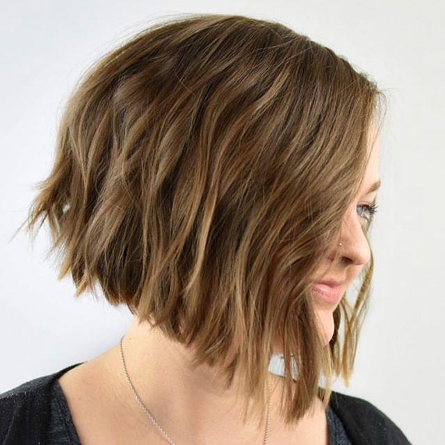 Asymmetrical Bob Haircut with Texture