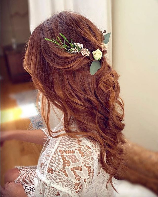 Greenery Sprigs Celtic Bridal Hair