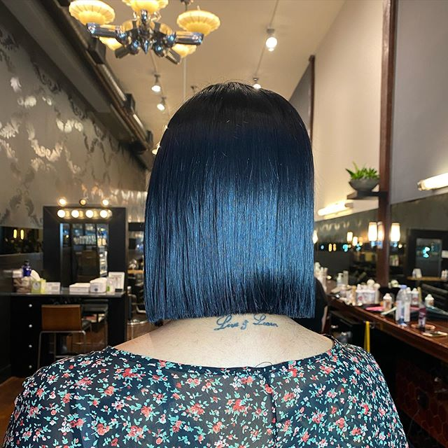 Indigo Blue Bob for an Intergalactic Look