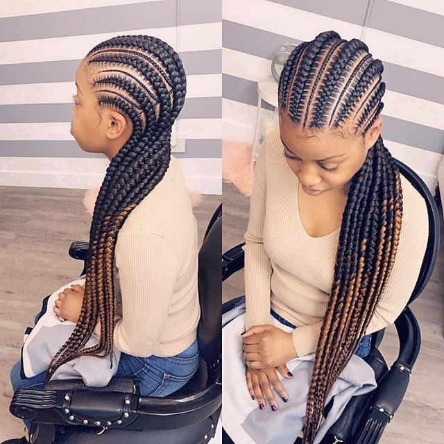 Cool Jumbo Cornrow Braid Hairstyle
