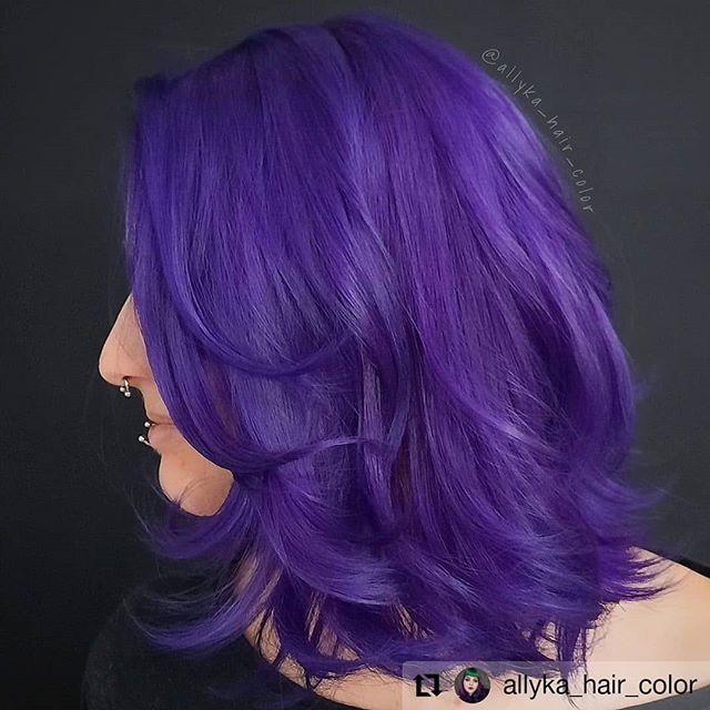 Silky Layered Violet Long Bob