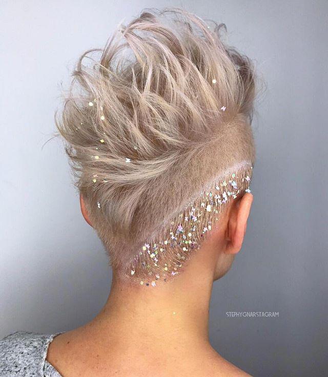 Fairy Glitter on Edgy Faux Hawk
