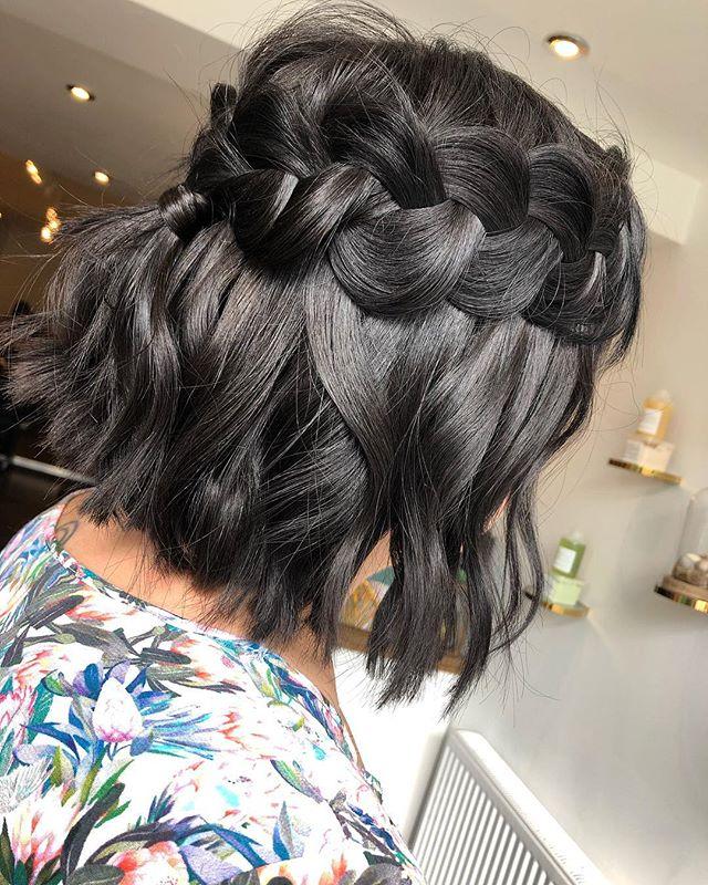 Super Wide Braid Crown on Best Wedding Hairstyles for Short Hair