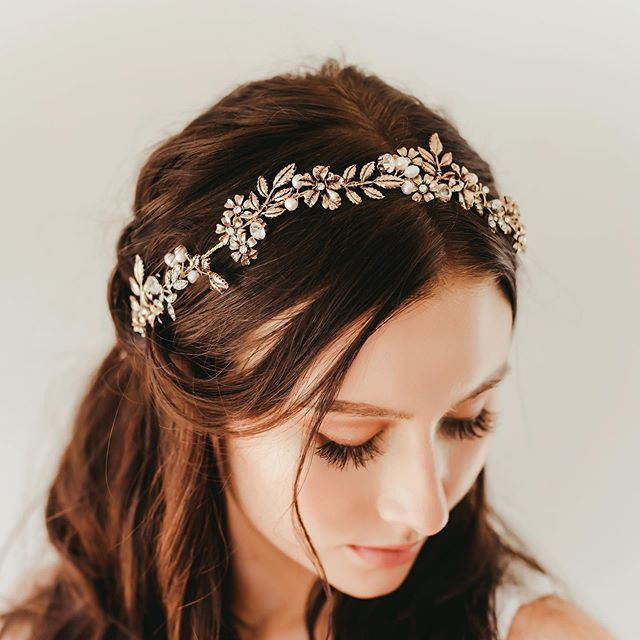 Half-up 'Do With Sparkling Floral Headband