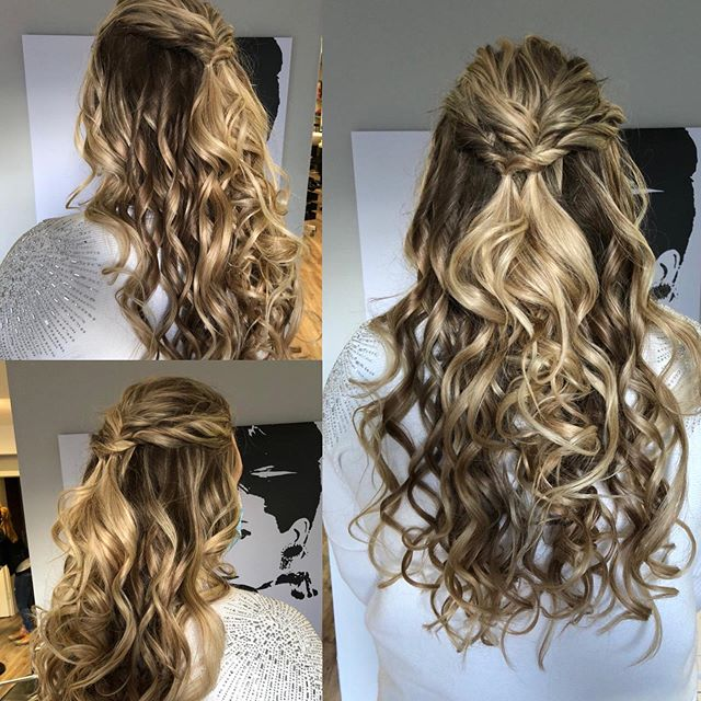 Double-Twisted Half-Pony Hairdo