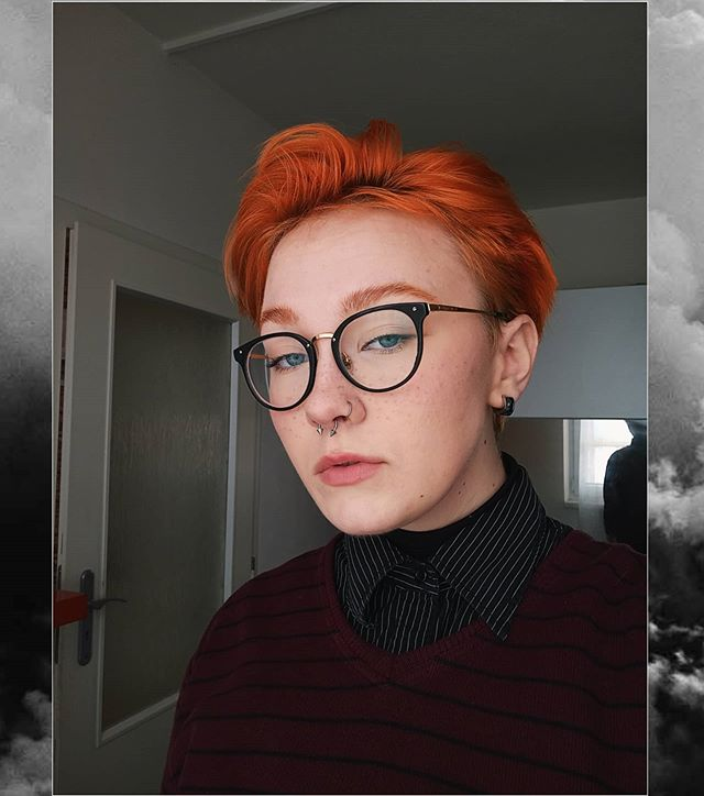 Bold And Fiery Long Pixie Cut