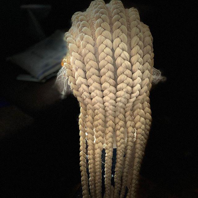 Cornrow-esque Chunky Blonde Box Braids