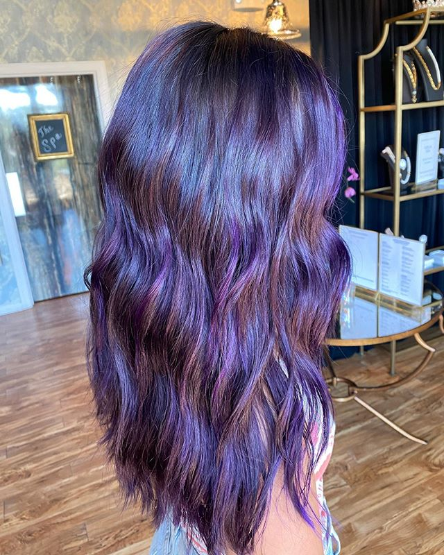 Deep Violet Colored Cascading Waves