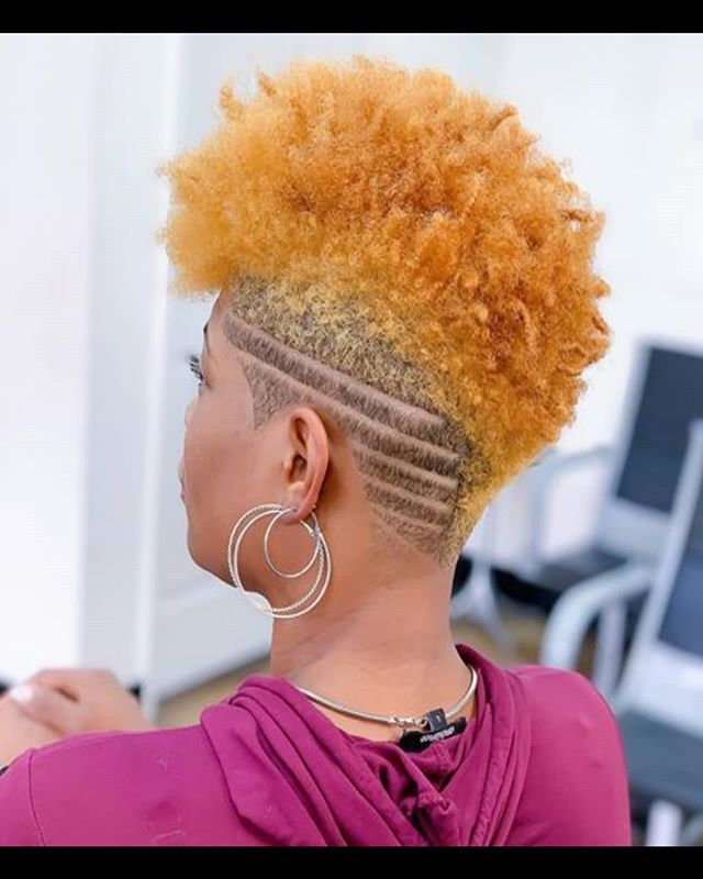 Frohawk with Stripey Details and Lemonade Curls