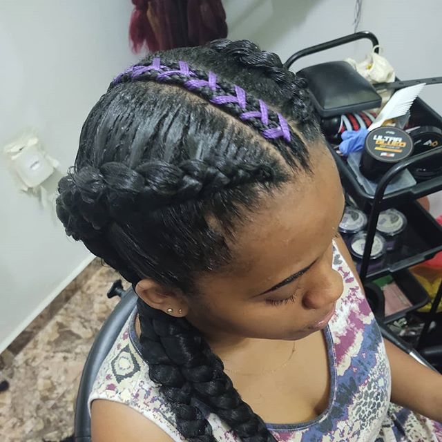 Thick Triple Braid With A Stunning Accent