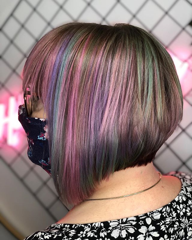 Colorful Blended Inverted Bob for the Funky You