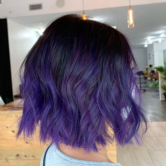 Short And Sweet Plum Tinted Hairstyle