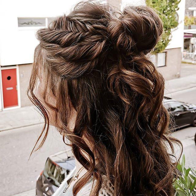 Effortlessly Enchanting Half-Bun And Loose Curls