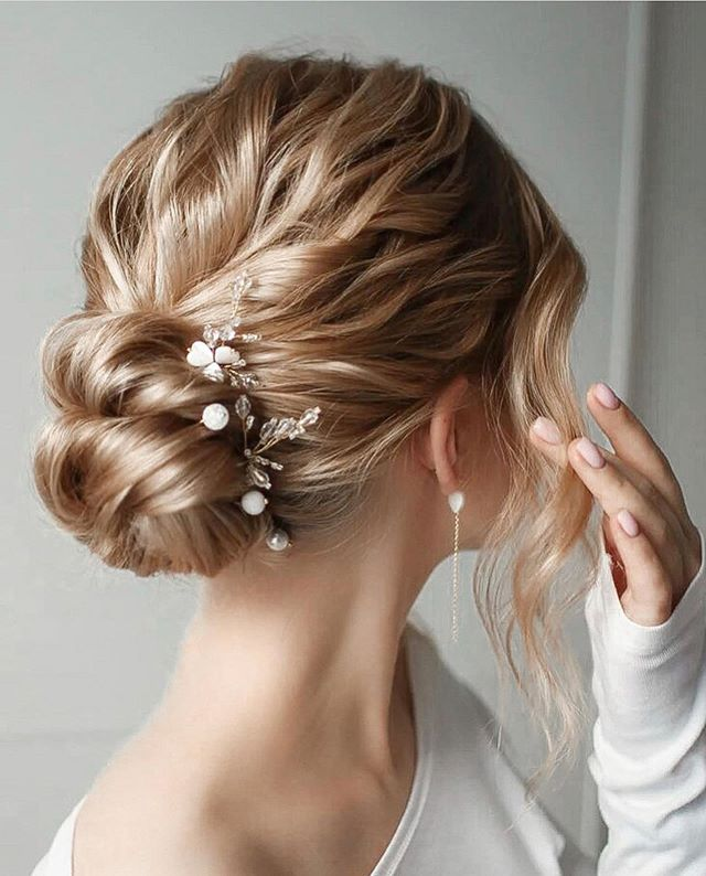 Lovely Low Bun With Sweet Accessories