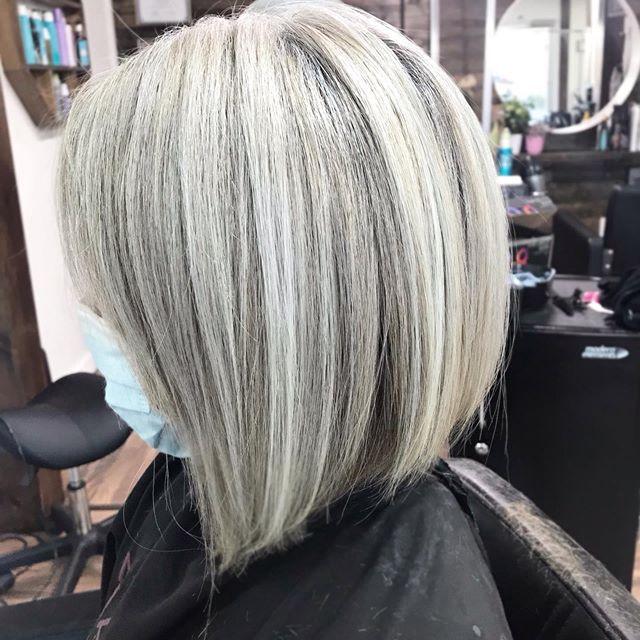 Dropdown Grey Bob Haircut for the Glamour Diva