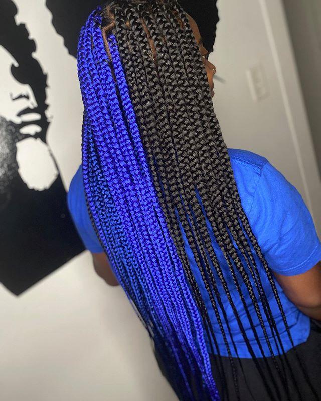 Fearless Cool Blue Box Braids