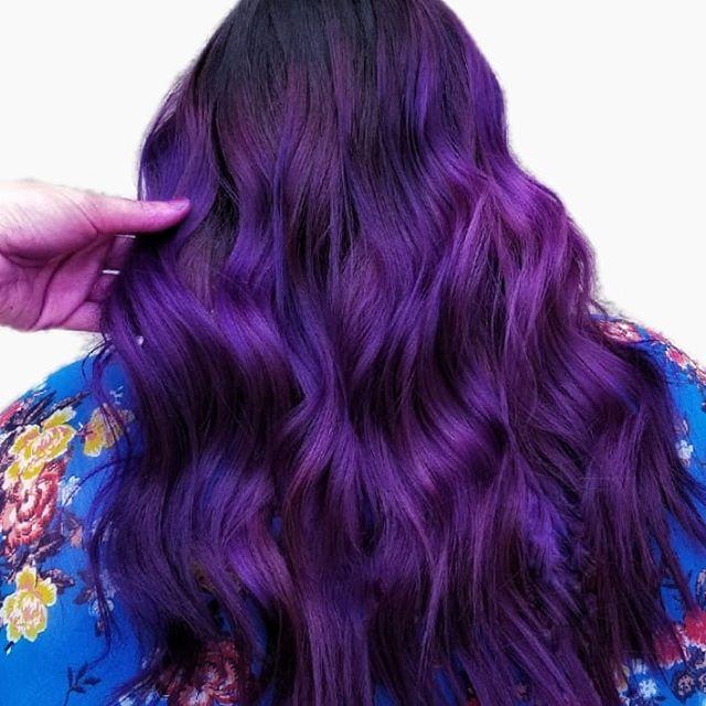 Electrifying Fuschia And Plum Curls