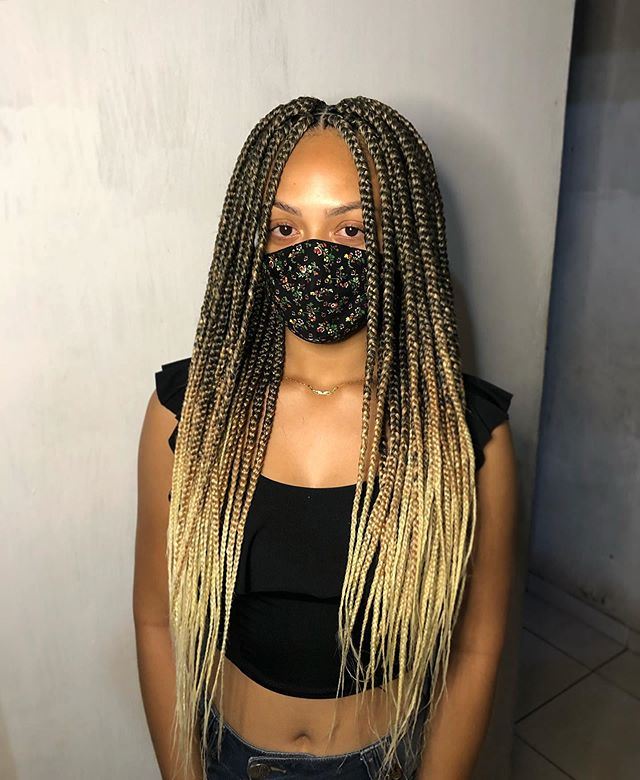 Ombre Blonde-infused Box Braids