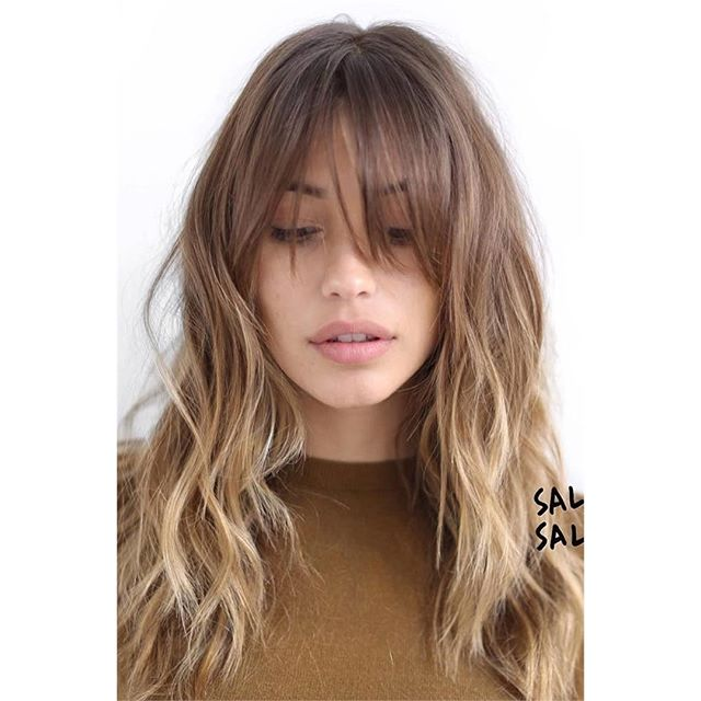 Undone Blond Shag with Long Bangs