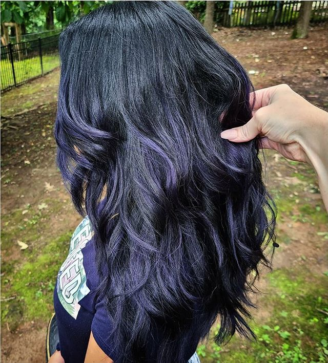 Sweet Blueberry Highlighted Dark Waves