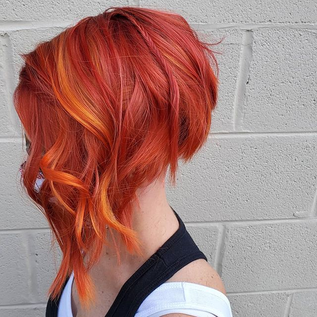 Plunging Asymmetrical Lob with Fiery Highlights