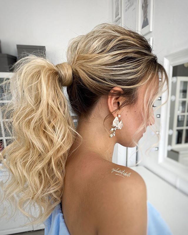 High, Tight Yet Loose Wrapped Ponytail
