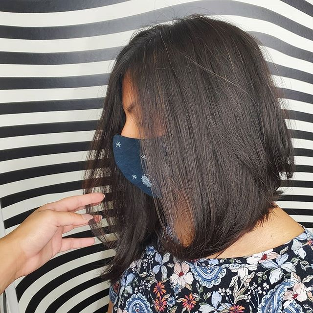 Jet Black Layered Inverted Bob for the Simplicity Lover