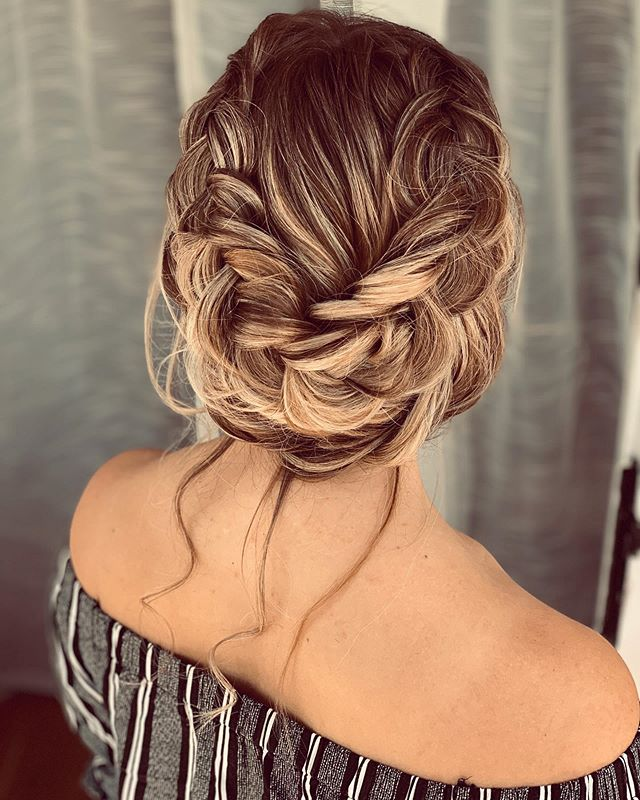 Braided Wrap With Loose Strands