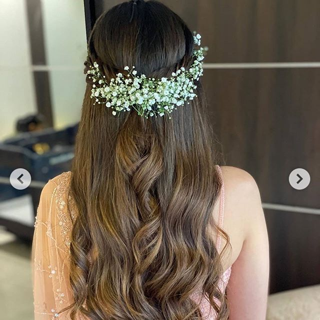 Heavenly Goddess-Like Twist With Floral Accent