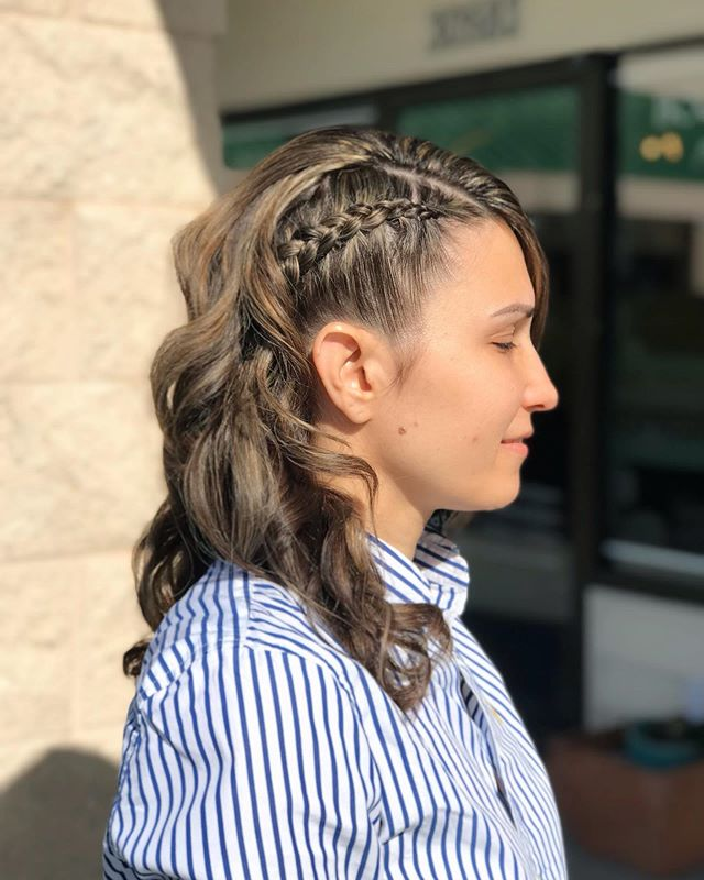 Modest Yet Classy, Sleek Side-Braided Curls