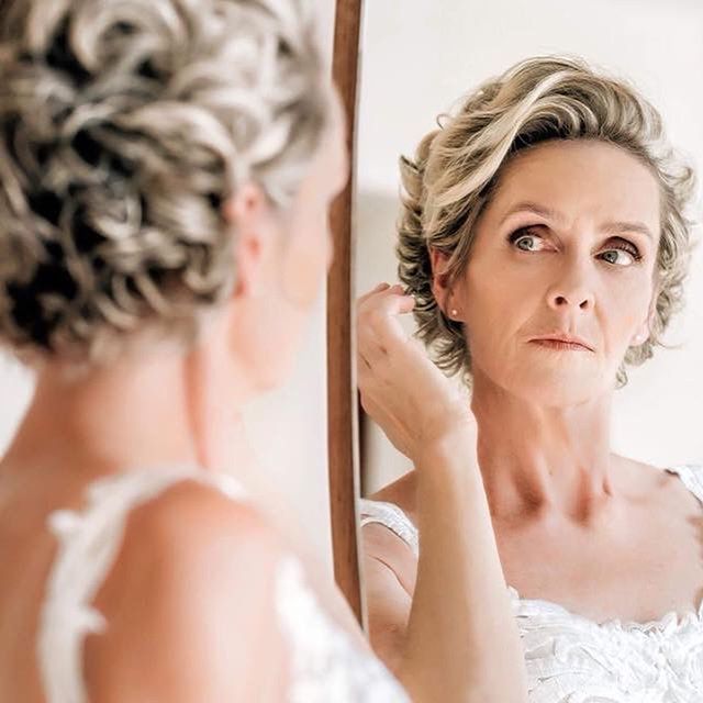 Bridal Pixie with Glamorous Curls