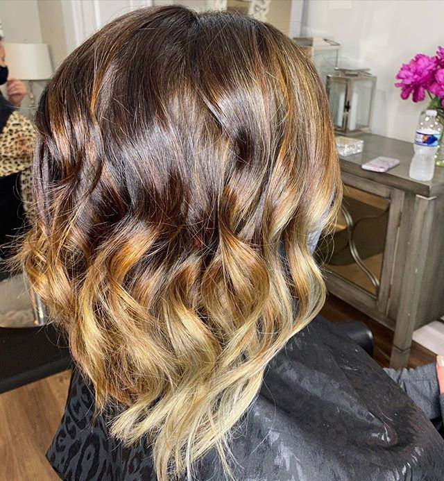 Lightening Brown Cut for the Perfect Poised Look