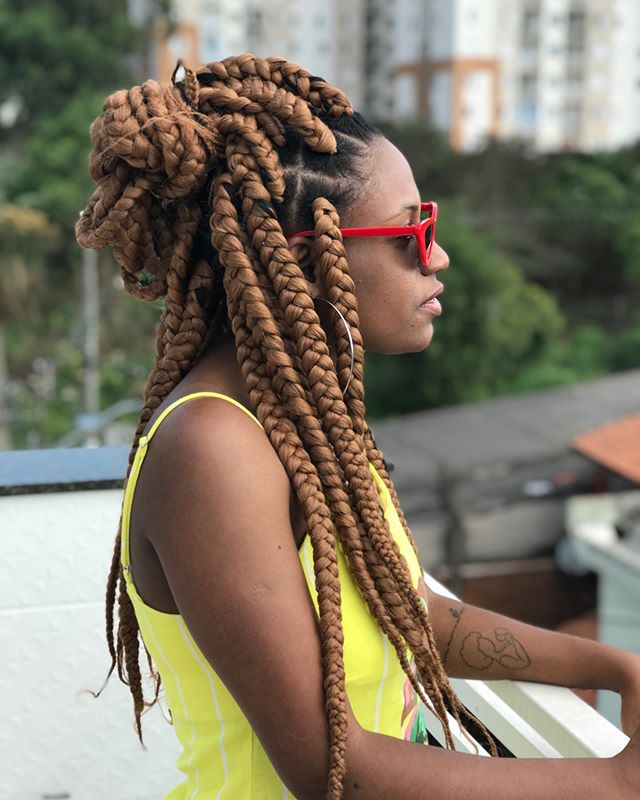Mellow Braids In A Funky Half-up Fashion