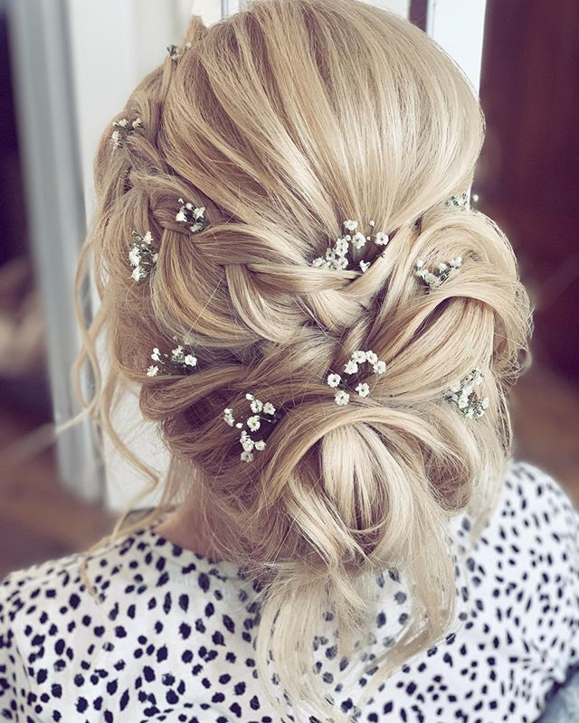 Braided, Artfully Accentuated, Pinned-Back Updo