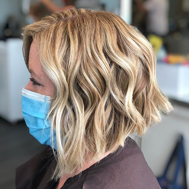 Loose Wavy Cocoon Style Inverted Bob for the Fun Riders
