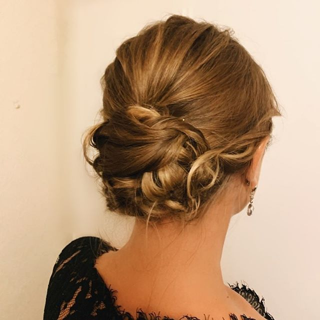 Lovely Twisted Bun For Alluring Flair