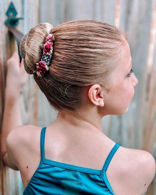 Sleek Ballerina Bun With A Pop Of Color