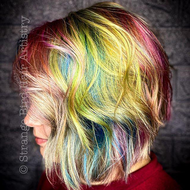 Rainbow Waves Bob for the Vibrant You