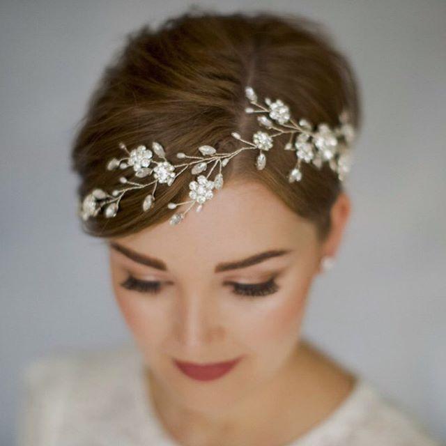 Renaissance Style Flower Headpiece for Brides