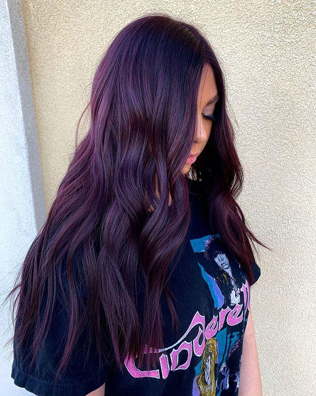 Faintly Tinted Dark Cherry Toned Hair