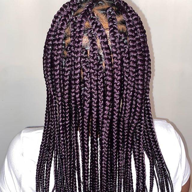Black Purple Ombre