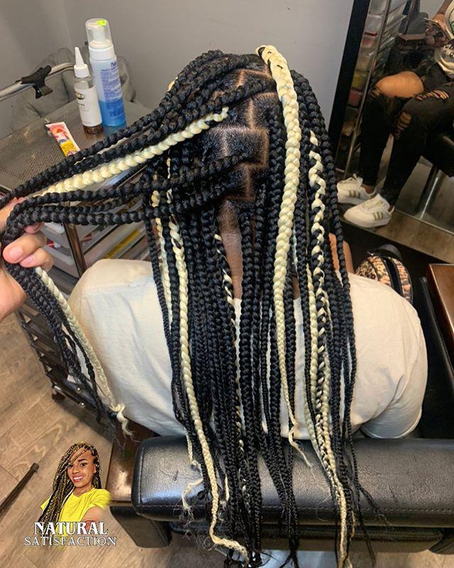 Peeks of Color Box Braids