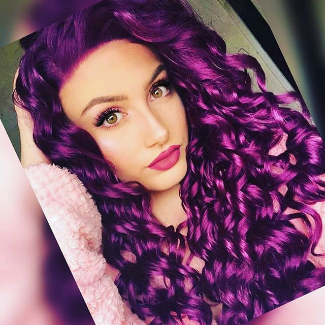 Electric Princess-Like Tightly Coiled Purple Curls