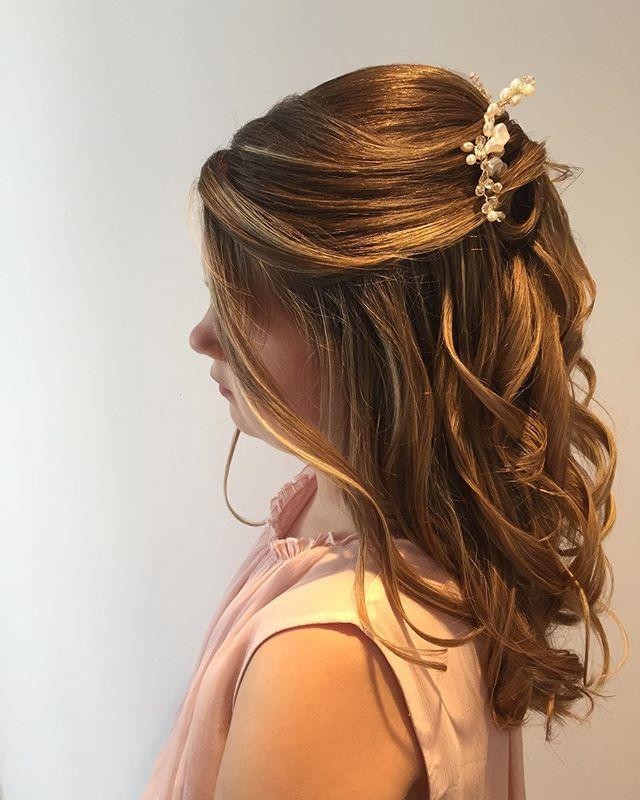 Half-Up Fold And Glistening Curls